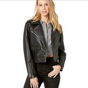 Blank NYC Never Too Much Vegan Leather Moto Jacket